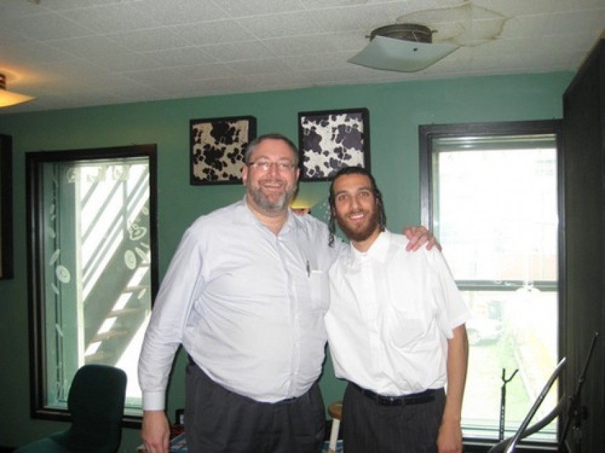 Nachum Segal Hosts Beri Weber for the Official Debut of 'Be'Ezras Hashem Yisbarach'