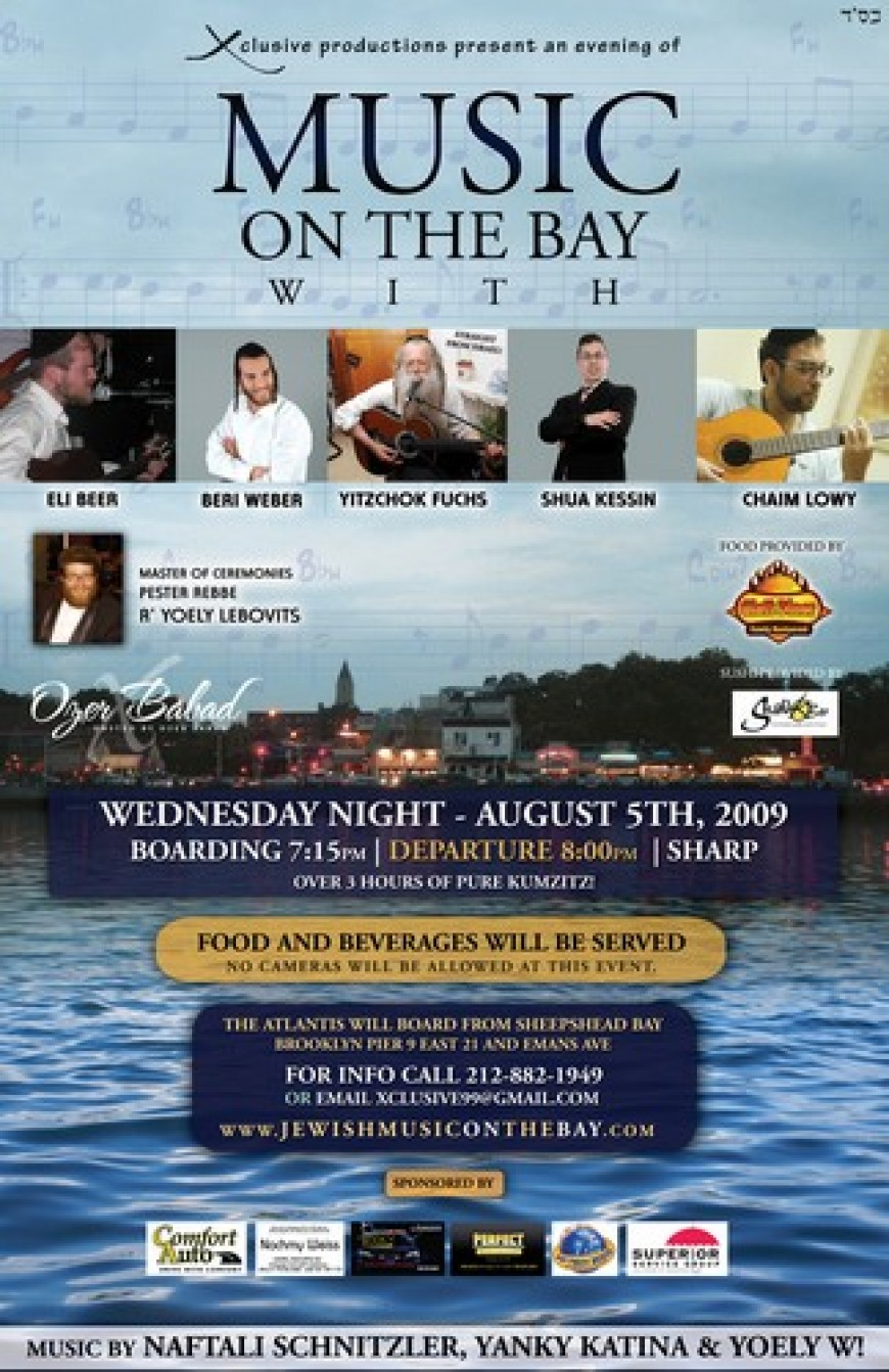 MUSIC on the BAY with Berri Weber, Yitzchok Fuchs, Shua Kessin and more!