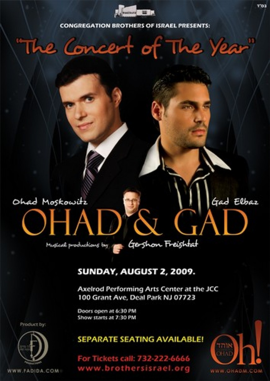 """The Concert of The Year"" OHAD & GAD"