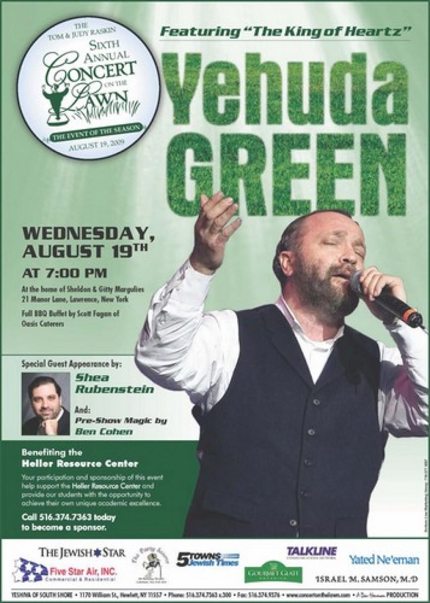 the Six Annunal CONCERT ON THE LAWN: Featuring Yehuda Green & Shea Rubenstein