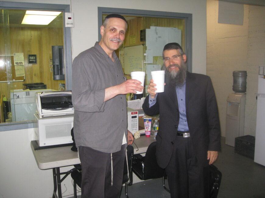 Avraham Fried and Benny Taubenfeld in Sameach Music