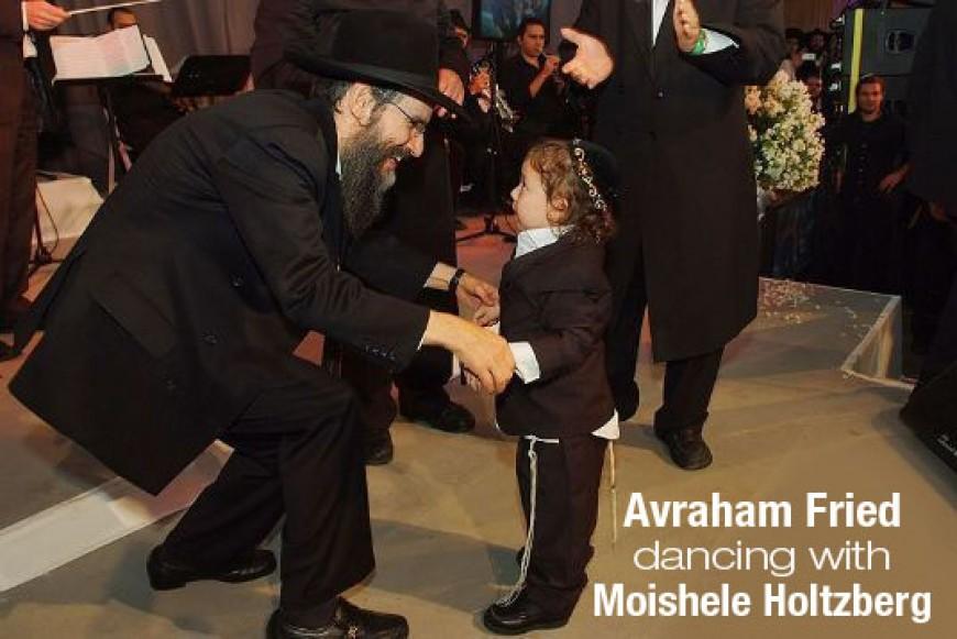 Avraham Fried Dancing with Moishele Holtzberg
