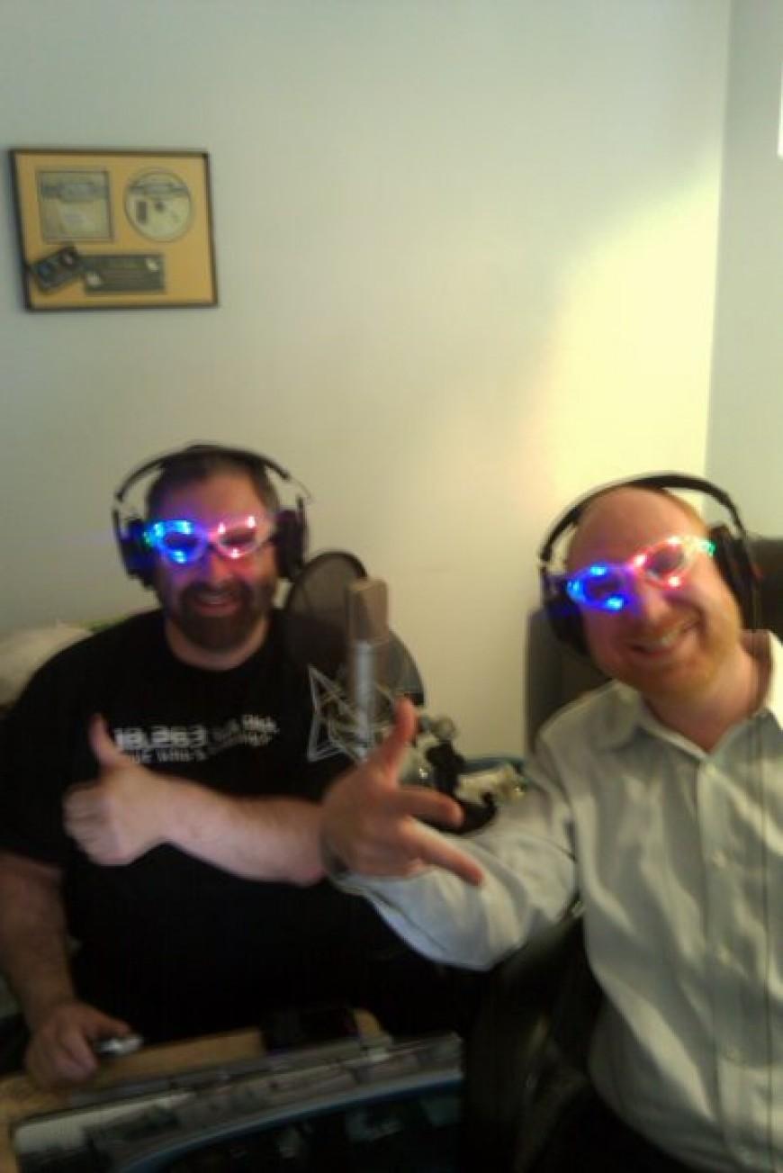 Yossi Green & Yossi Tyberg having a fun moment in studio