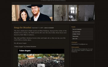"1 Year Anniversary – ""MumbaiMusicTribute.com"" – A Tribute to Rabbi Gavriel and Rivka Holtzberg"""