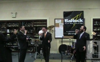 Shloime Kaufman, Yonatan Shlagbaum & Yacov Young @ YU Chanukah party