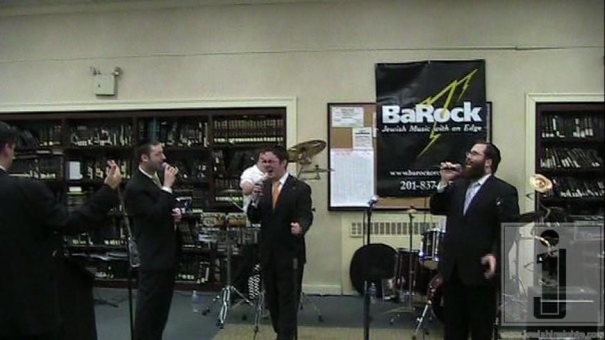 Shloime Kaufman, Yonatan Shlagbaum & Yacov Young @ YU Chanukah party