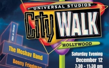 City Walk live webcast via Chabad.org's new Jewish.tv – Benny Friedman & The Moshav Band  Also featuring: DeScribe, Y-Love & Diwon and LevYatan