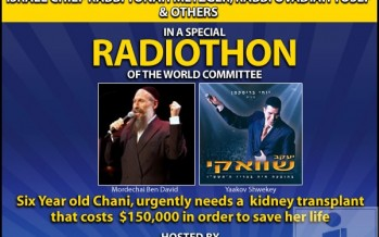 Join Mordechai Ben David, Yaakov Shweky – Tonight on Radiothon!