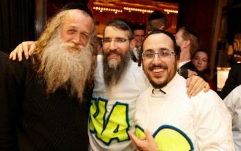 Yitzchak Fuchs, Avremel & Lipa. Photo by Stan Weiss