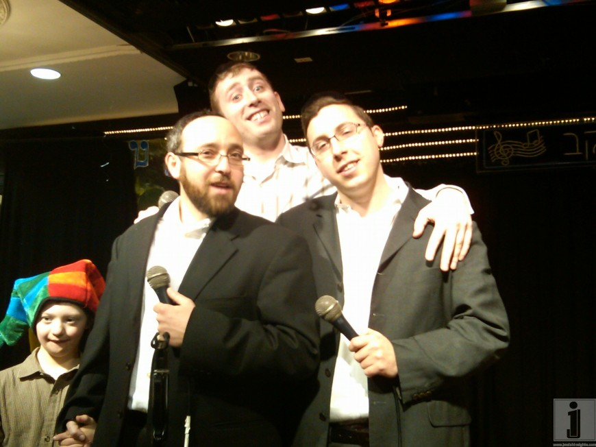 Sruly Williger, Shua Kessin & Dovid Stein @ a mitzvah event