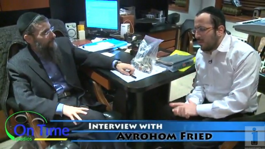 Avraham Fried with LIPA talking abut the new CD coming may 16 2010