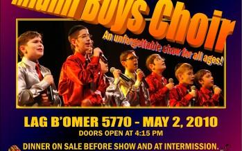 The Politz Day School of Cherry Hill presents:  The Miami Boys Choir