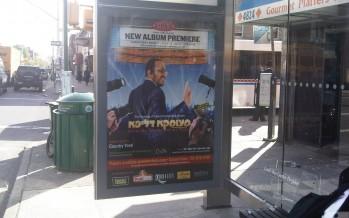 Lipas Pre-Release New Album Premier Bus Stop Ad