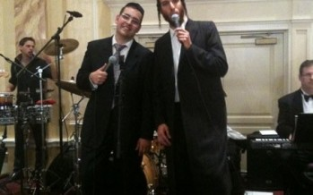 Dovid Gabay & Beri Weber at a recent Wedding