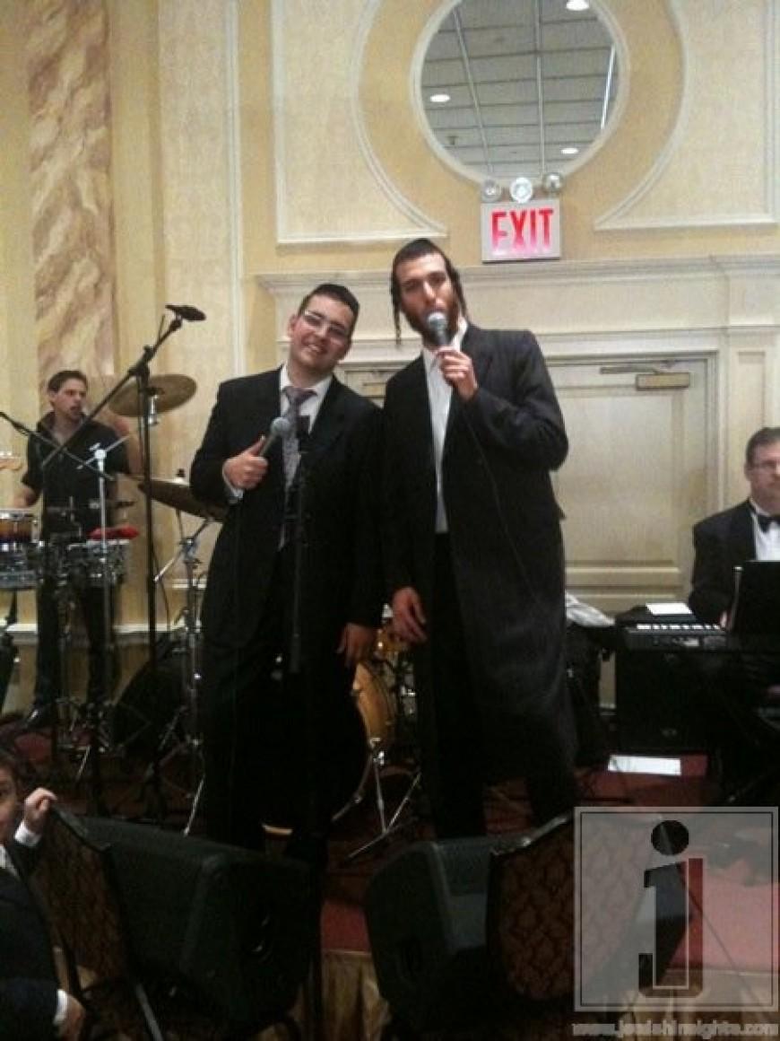 Dovid Gabay & Beri Weber at a recent Wedding