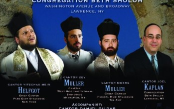 the 8th Annual Congregation Beth Sholom Cantorial Concert