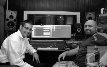 "Dovid Gabay & Ian Freitor working on Dovid's new album ""Eretz Yisroel"""