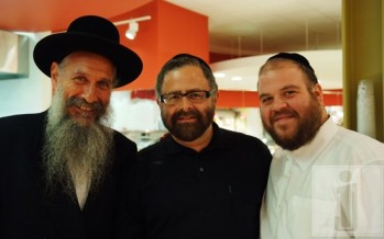 MBD, Yossi Green & Gershy Moskowitz shopping at POMEGRANATE. Photo by Baruch Ezagui