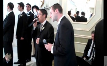 Yonatan Shlagbaum & Shloime Kaufman singing by a wedding accompanied by the BaRock Orchestra