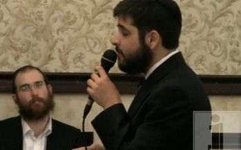 Yoni Zigelbaum singing by a wedding