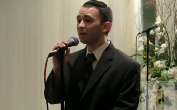 Yitzy Spinner Singing At Aryeh Kunstler's Chupah
