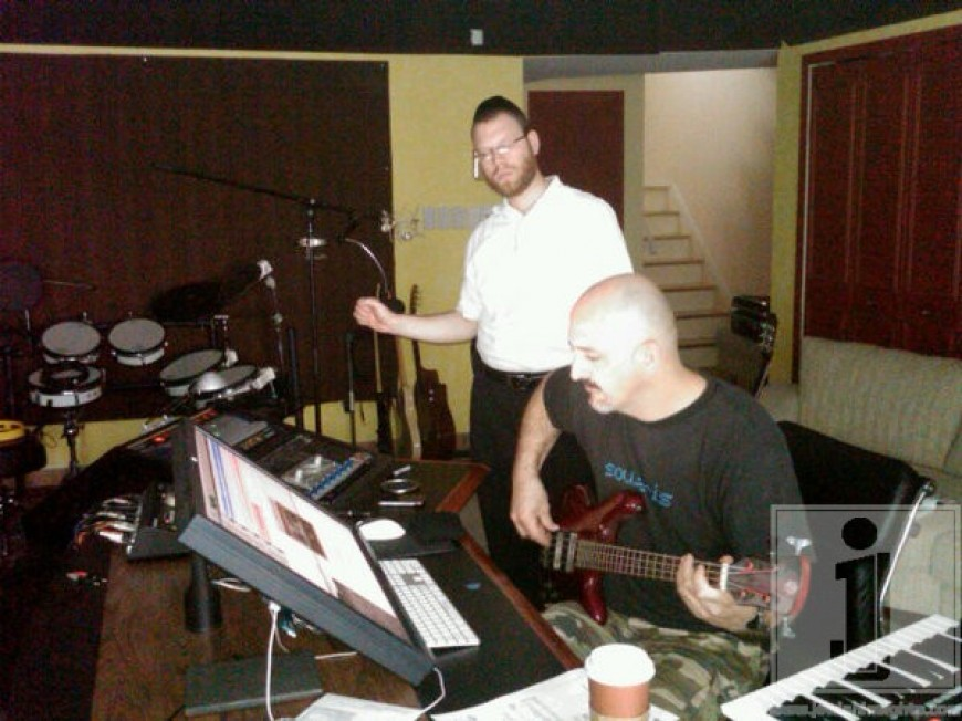Yumi Lowy working with Eli Lashinsky in his studio