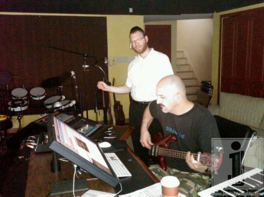 Yumi Lowy working with Eli Lashinsky in his studio