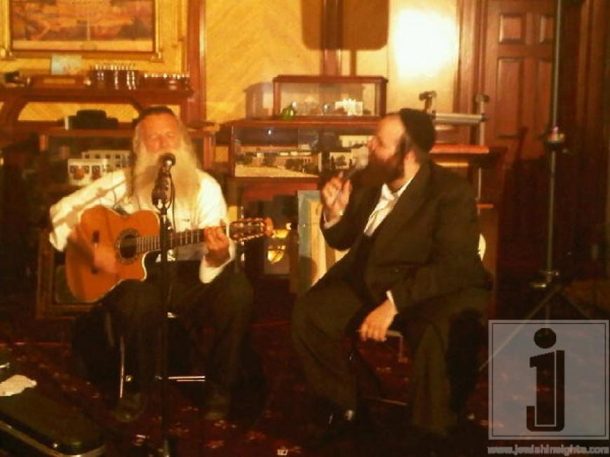 Shloime Taussig & Yitzchak Fuchs last night @ Yad Efraim