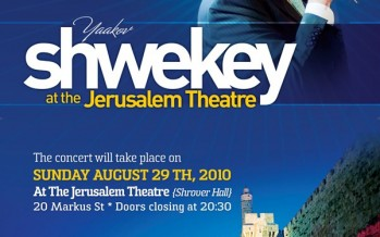 Yaakov Shwekey at the Jerusalem Theater