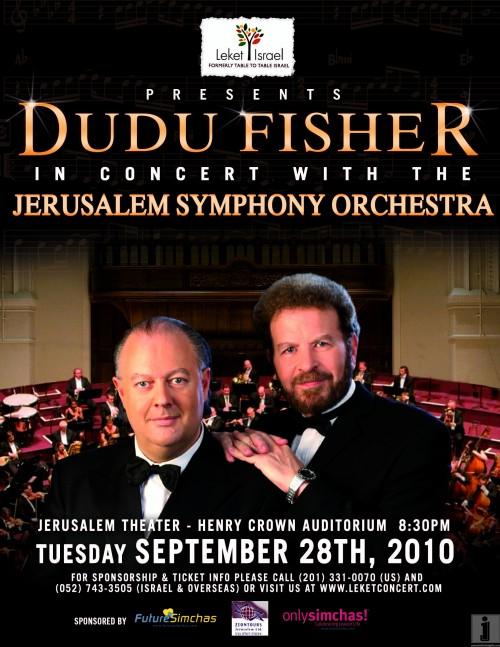 Dudu Fisher - Leket Israel Concert Poste