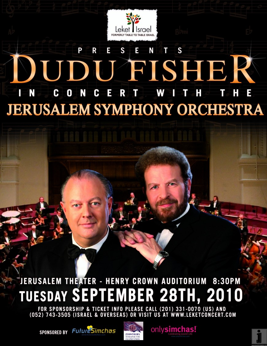 Leket Israel presents: Dudu Fisher in Concert with the Jerusalem Symphony Orchestra