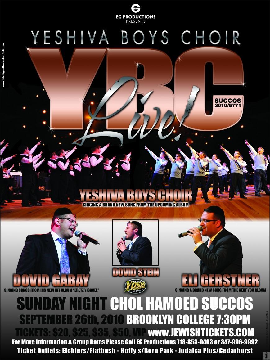 YBC Live! Succos '10 with Dovid Gabay, Eli Gerstner & Dovid Stein