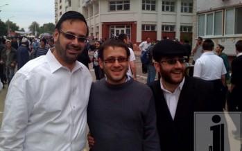 Yeedle, Avrumi Schreiber & Tzvi Goldring in Uman erev yom tov