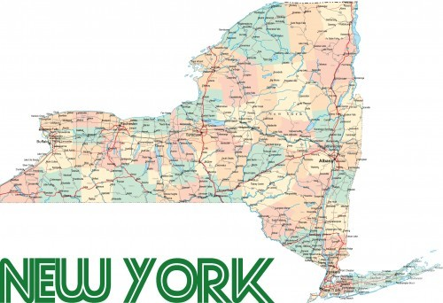 new-york-road-map