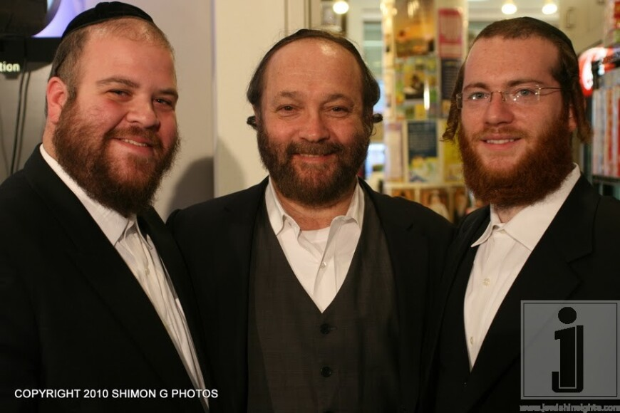 Gershy Moskowitz, Yehuda Green & Chazzan Yanky Lemmer @ the Unity for Justice Press Confrence