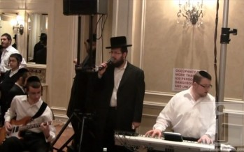 Lipa, Shragy & Sruli Green with Pinny & Moishy Schwartz at Ari Haas' Wedding