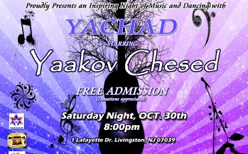 Yachad Concert Starring Yaakov Chesed