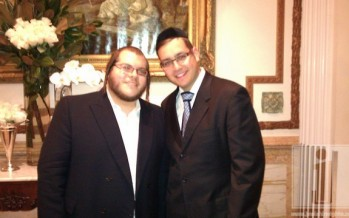 Levy Falkowitz & Dovid Gabay at a recent Simcha