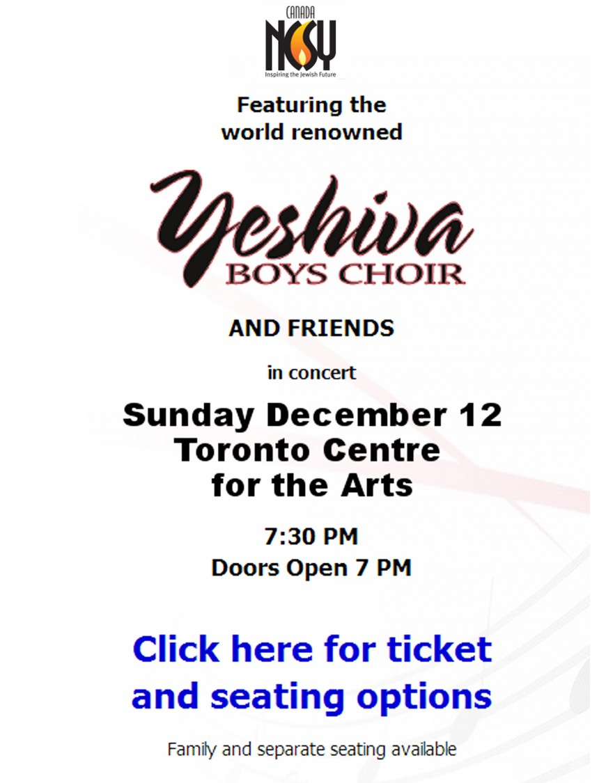 NCSY Canada- Presents Chanukah Concert 2010 with YBC