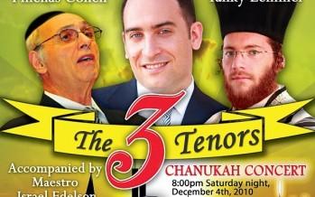 "Manhattan Beach Jewish Center presents ""The 3 Tenors"""