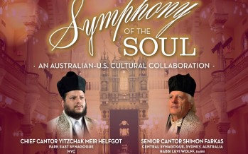 PARK EAST SYNAGOGUE & The AUSTRALIAN CONSUL GENERAL prsent: Symphony of the Soul