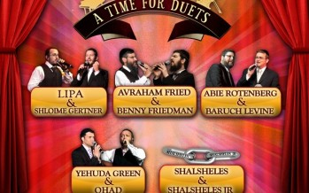 HASC DUET ANNOUNCEMENT – AVRAHAM FRIED & BENNY FRIEDMAN