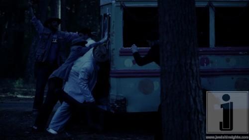 pushing bus