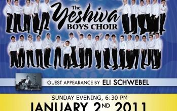 THIS SUNDAY – Yeshiva Ketana of Manhattan presents The YESHIVA BOYS CHOIR with guest Appearance by ELI SCHWEBEL