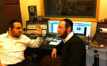 Lipa and Tuli Weil discussing a beautiful new song on Yoily Greenfeld's album