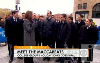 The Maccabeats on the Early Show this morning