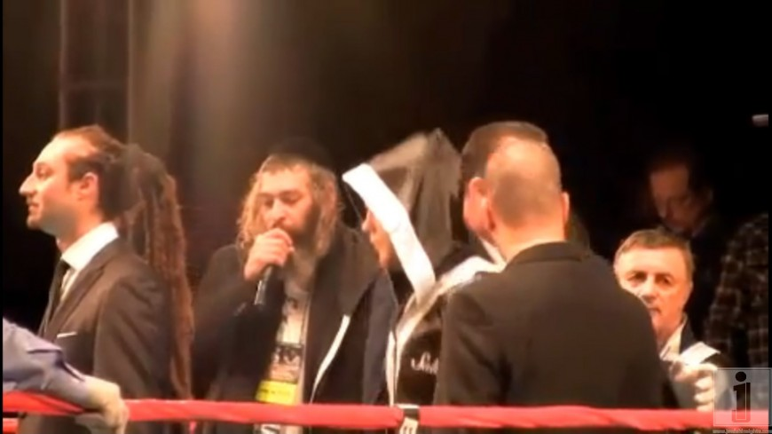 Matisyahu sings Dmitriy Salita into the Ring! Matisyahu