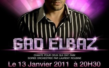 GAD ELBAZ live in Paris