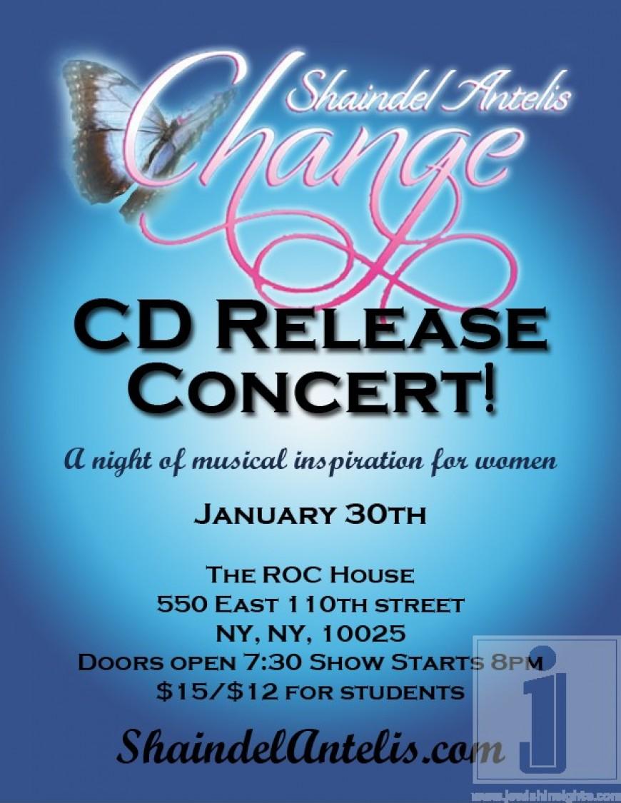 Shaindel Antelis CD release concert!