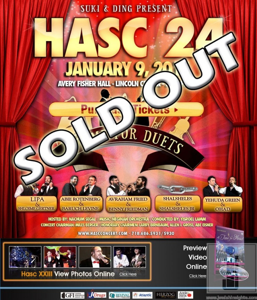 TONIGHT: HASC 24 A Time For Duets
